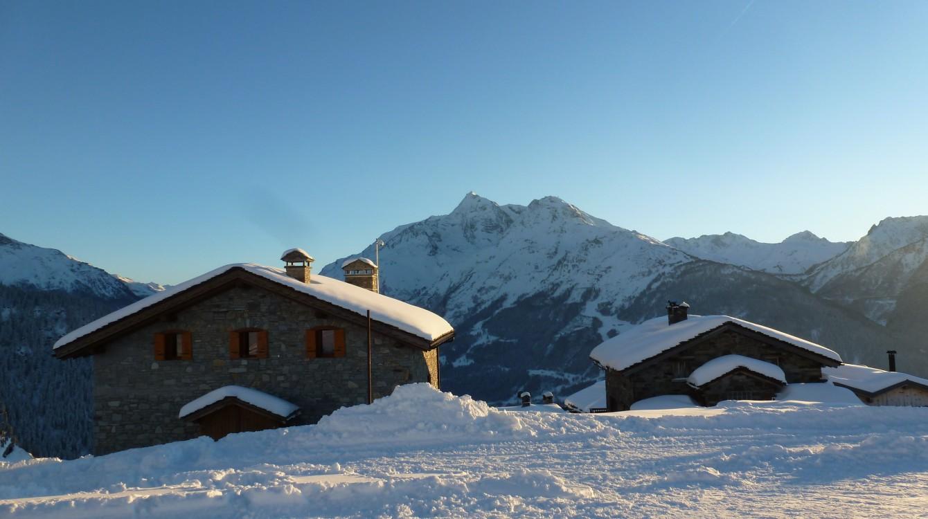 La Rosière - Chalet le Montana - Vue hiver - Eve Hilaire studiodes2prairies