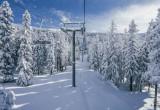 Télésiège dans un paysage ski